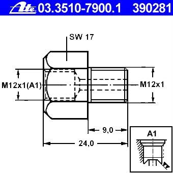 Bremsleitungsadapter M 10 x 1 auf M 12 x 1 Bördel F 4,75 mm Länge 90 mm M10 M12