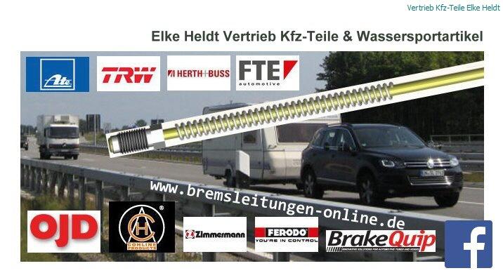 Bremsrohr Bremsleitung 6 mm M12 x 1 Bördel E 1300 mm passend zu Unimog MB-Trac