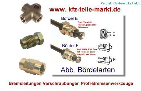 Bremsrohr 6 mm   beidseitig M12 x 1  Bördel E   verschiedene Längen
